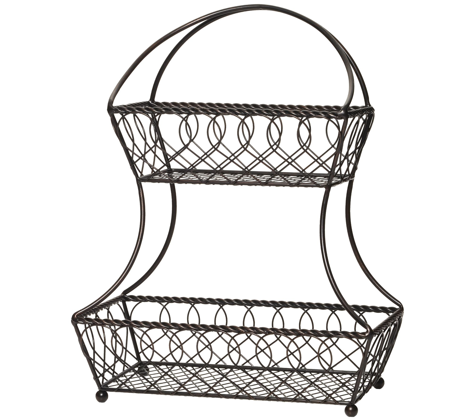 3 Tier Fruit Basket Stand. Simple Shabby Chic Iron Tier Fruit Basket ...