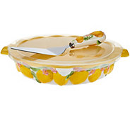 As Is Temp-tations Figural Fruit Pie Dish with Server - K307464