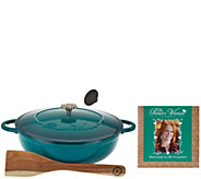 Pioneer Woman Timeless Beauty 5-Quart Braiser with Recipes & Wooden Spoon - K44264