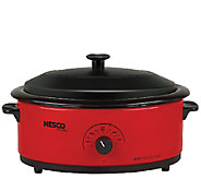 Nesco 6-qt Red Roaster with Porcelain Cookwell - K303665