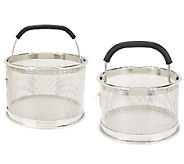 As Is Cooks Essentials S/2 Multi Function Mesh Straining Baskets - K307365