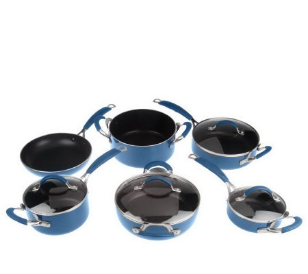 gordon ramsay porcelain enamel 10 cookware set k34065 qvc