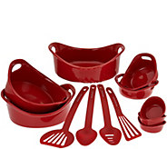 Rachael Ray Bubble & Brown 12-piece Round Bakeware Set - K44865