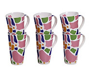 Tabletops Gallery Set of 6 18-Oz Mugs - Sorbet - K299066