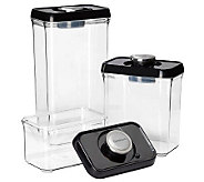 Cuisinart 6-pc Vacuum-Seal Food Storage Set - Black Lids - K302866