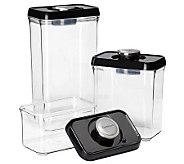 Cuisinart 6-pc Vacuum-Seal Food Storage Set - Black Lids - K302866