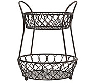Gourmet Basics by Mikasa Loop & Lattice 2-TierBasket - K304766