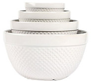 Tabletops Gallery 4-pc Hobnail Mixing Bowl Set - K299767