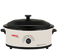 Nesco 6-qt Ivory Roaster with Porcelain Cookwell - K303667