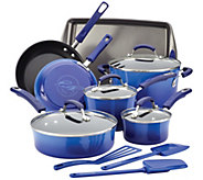 Rachael Ray Hard Enamel Nonstick 14-Piece Cookware Set - K305767