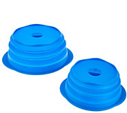 As Is Set of 2 Silicone Collapsible Multi-Lids by MCM - K307267