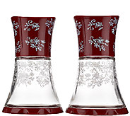 As Is Temp- tations Floral Lace Set of 2_Glass Grinders - K307367