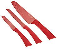 Prepology 3-piece Nonstick Knife Set with Safety Tips - K37267