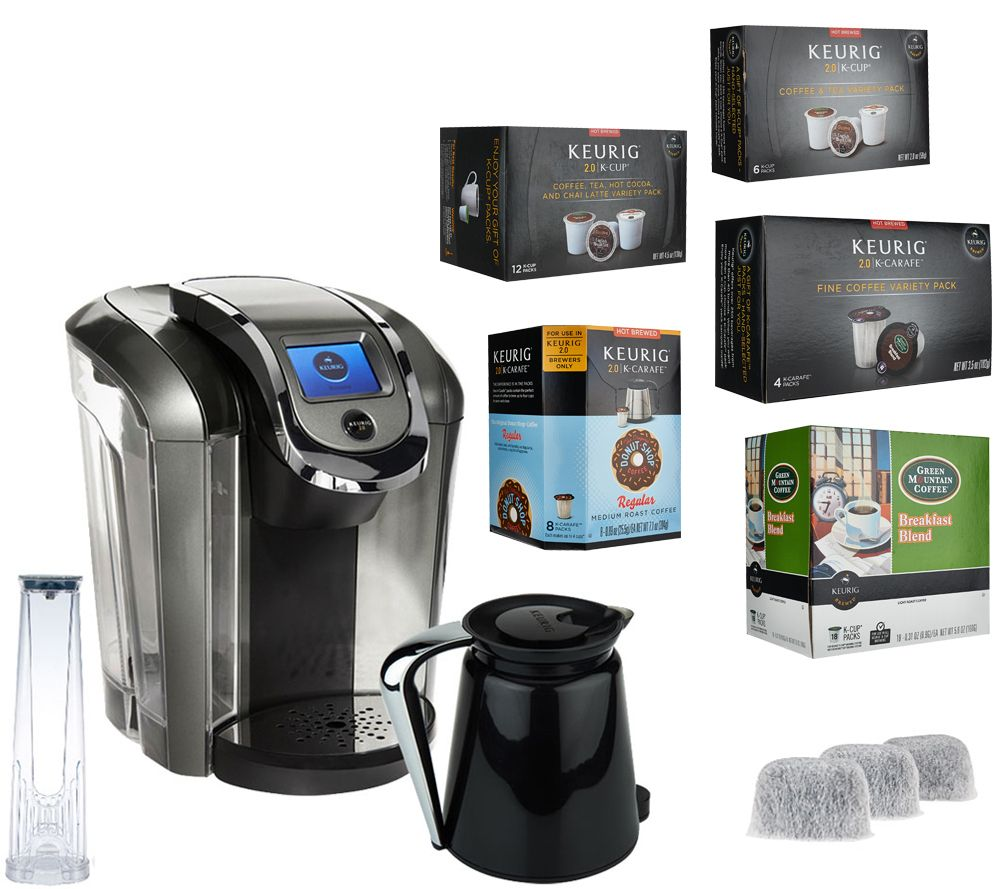 Best Coffee Maker For Pods : Keurig 2.0 K550 Coffee Maker w/ 36 K-Cup Pods, 12 K-Carafe Pods & Filters - Page 1 QVC.com