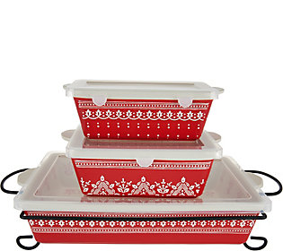 Cook's Essentials Savannah 4 pc. Bakeware Set with Lids
