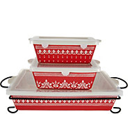 Cooks Essentials Savannah 4 pc. Bakeware Set with Lids - K45567
