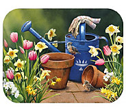 Tuftop Spring Garden Counter Saver Glass Cutting Board - K120868