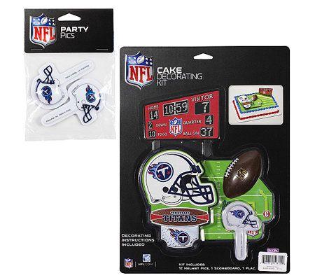 Qvc Cake Decorating Kit : NFL Tennessee Titans Cake Decorating Kit   QVC.com