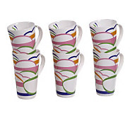 Tabletops Gallery Set of 6 18-Oz Mugs - Dafina - K299068