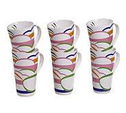 Tabletops Gallery Set of 6 18-Oz Mugs - Dafina - K299068