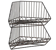 Gourmet Basics by Mikasa French Countryside 2 Stacking Baskets - K304768