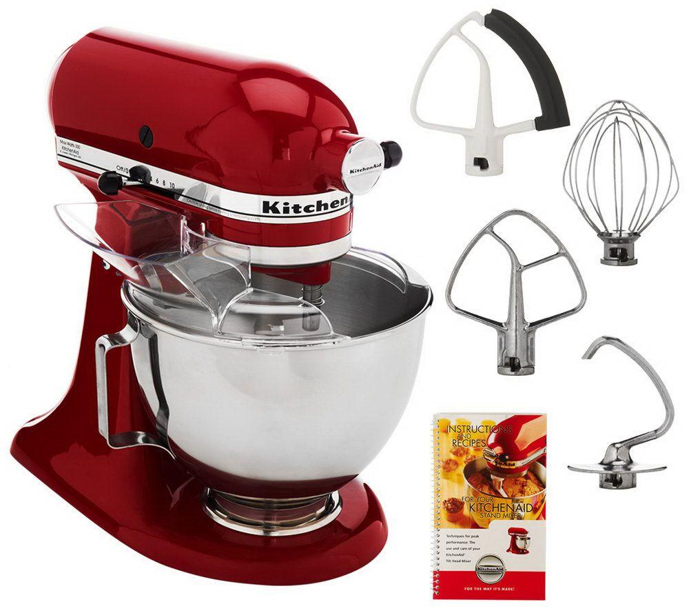 Kitchenaid Tilting Stand Mixer Tilt 4 5 Quart ksm85pbsm Red
