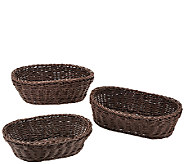 Lock & Lock Set of 3 Oval Nestable Baskets - K42668