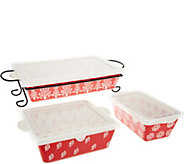 Cooks Essentials Madison 4 pc. Bakeware Set with Lids - K45568