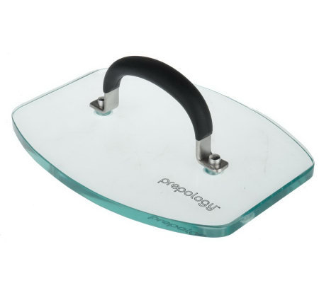 Prepology 6 1 2 X 8 1 2 Oblong Glass Bacon Press Qvc Com