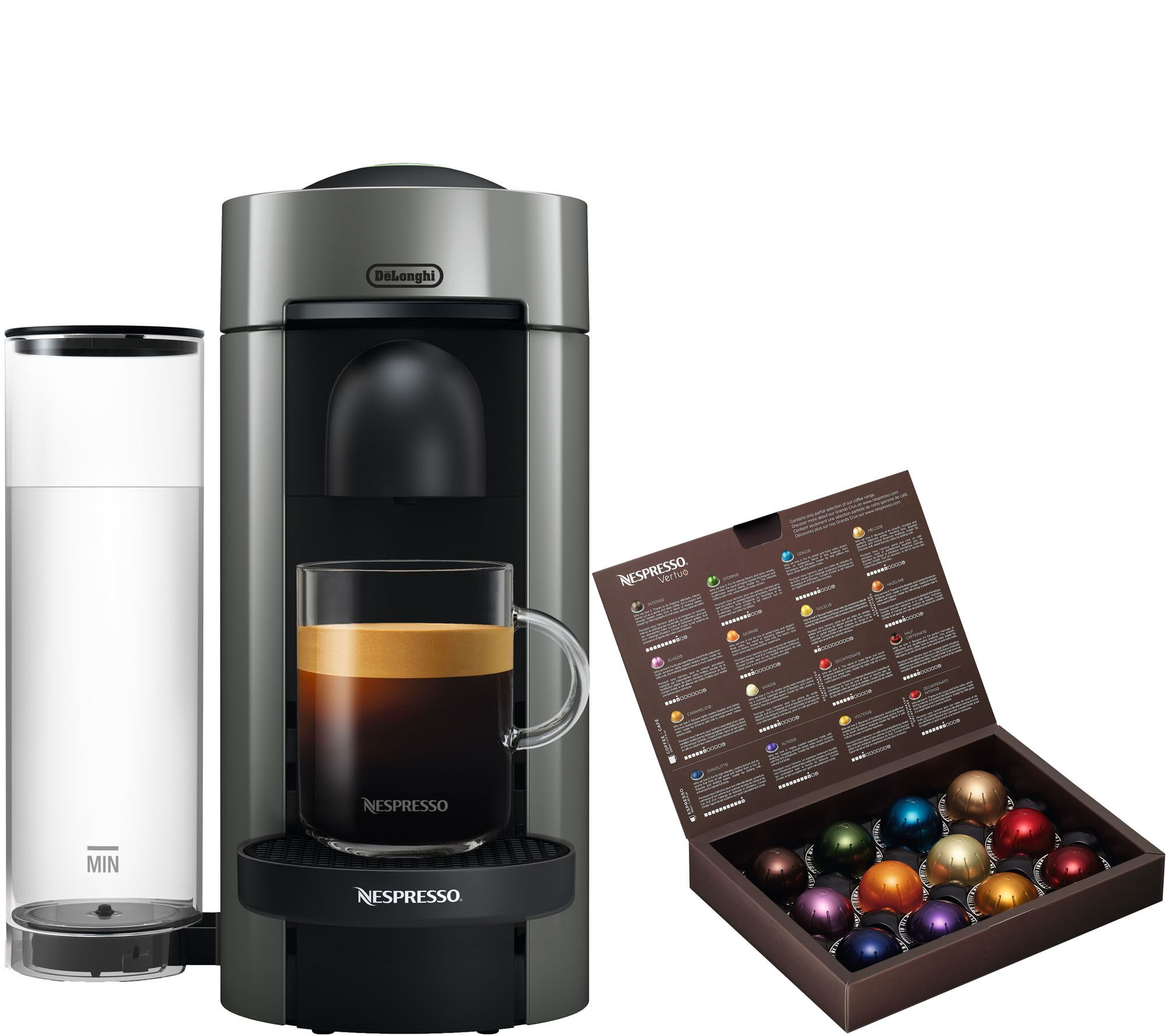 nespresso vertuo plus coffee u0026 espresso machinegrey delonghi u2014 qvccom - Nespresso Delonghi