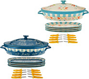 Temp-tations Old World or Floral Lace Corn Cob Baker Set - K43569