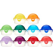 Lock & Lock 10pc Multi-color Mini Dome Set - K44469