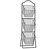 Gourmet Basics by Mikasa General Store 3-Tier M arket Basket - K304770