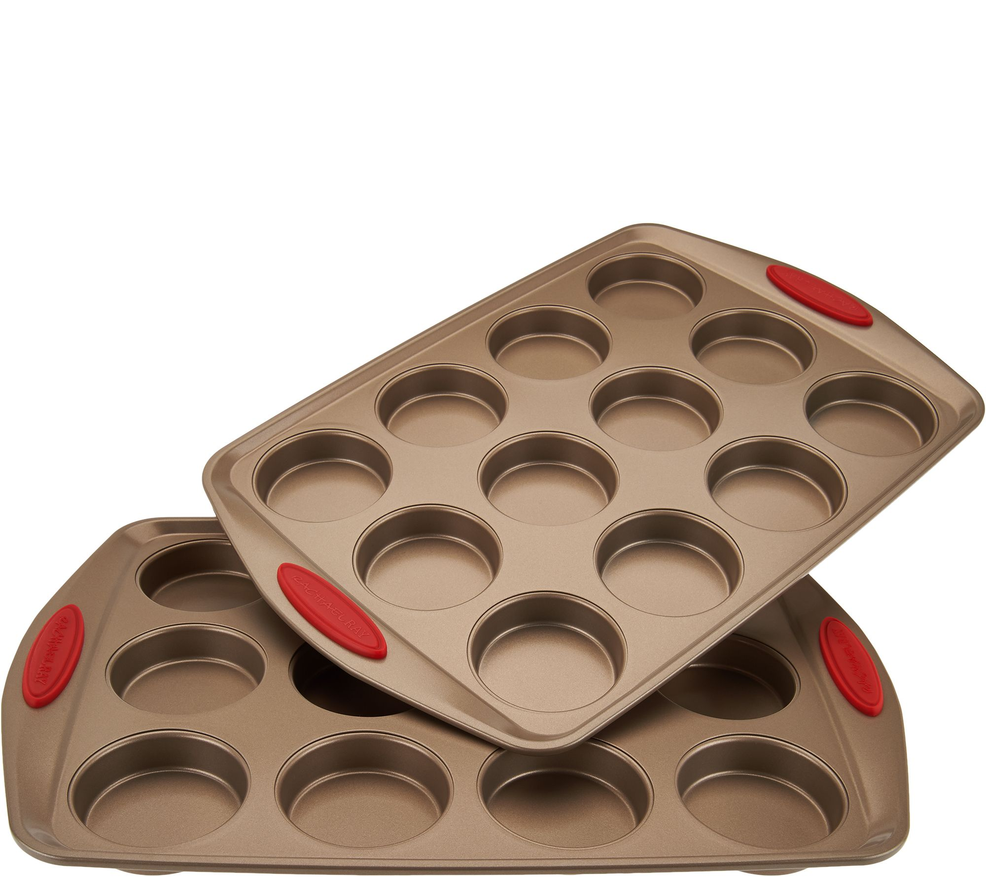Rachael Ray 2 12 Mini Cake Pans With Silicone Handles