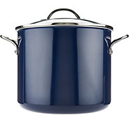 As Is Cooks Essentials 12qt Porcelain Enamel Stock Pot w/ Handles - K307571