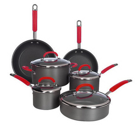 Rachael Ray Hard Anodized Dishwasher Safe 10-piece Cookware Set