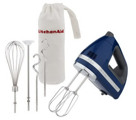 kitchenaid professional 9 speed digital hand mixer w bag attachments k34571. Black Bedroom Furniture Sets. Home Design Ideas