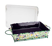 Temp-tations Figural Floral 13x9 Baker with Wire Rack - K39671