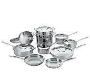 Cuisinart Chefs Classic Stainless 17-Piece Cookware Set - K122772