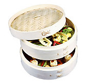 Asian Origins 10 3-Piece Bamboo Steamer - K301372