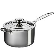 Le CreusetStainless Steel 4-qt Saucepan with Lid - K303572