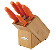 Rachael Ray 6-Piece Grippy Stainless Steel Knife Block Set - K304272