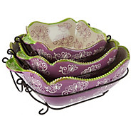 Temp-tations Floral Lace 6-pc. Baking & Serving Set - K41672