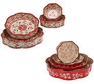 Temp-tations Set of 4 Nested Cake Pans - K42572
