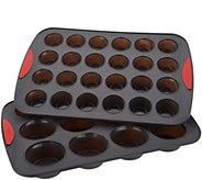 Trudeau Muffin & Mini Muffin Silicone Non-Stick Baking Pans - K46472
