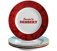 Cake Boss 4-Piece Porcelain Dessert Plate Set - K302473
