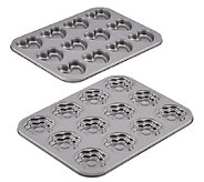 Cake Boss Bakeware 2-Pc Heart & Flower Shaped Cookie Pan Set - K303073