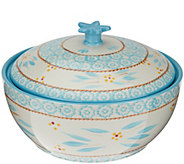 As Is Temp-tations Old World 2.5 qt. Round Baker w/ Domed Lid - K307473