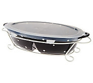 Temp-tations Polka Dot Large Split Oval Baker w/Wire Rack - K39473
