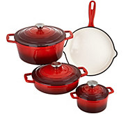 Cooks Essentials 7-pc Gradient Cast Iron Cookware Set - K44773